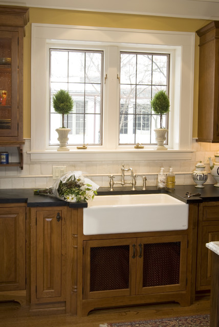 Farm sink traditional kitchen other by the kitchen for House plans with kitchen sink window
