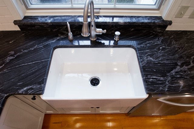 Farm Sink With Matching Granite Window Sill Traditional