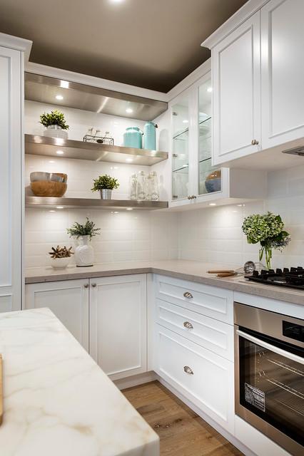 Farmers - Hampton Style Kitchens - Beach Style - Kitchen - Gold ...