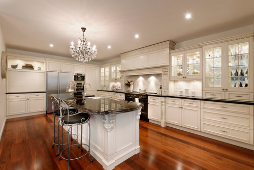Country Style Homes With Jarrah Kitchen