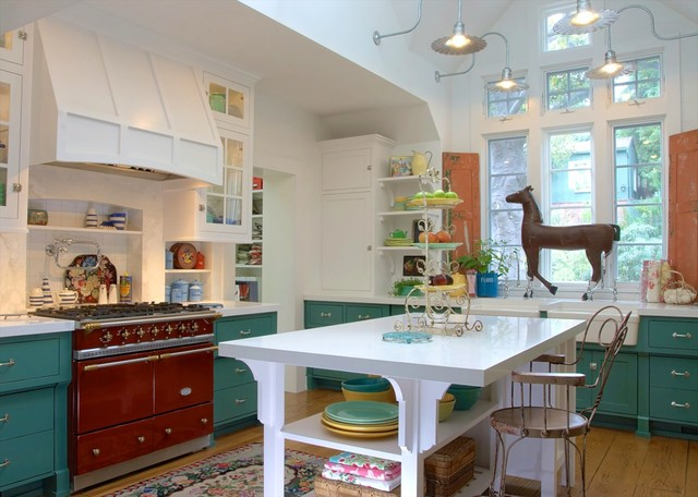 Farmhouse Shabby chic Kitchen los angeles by