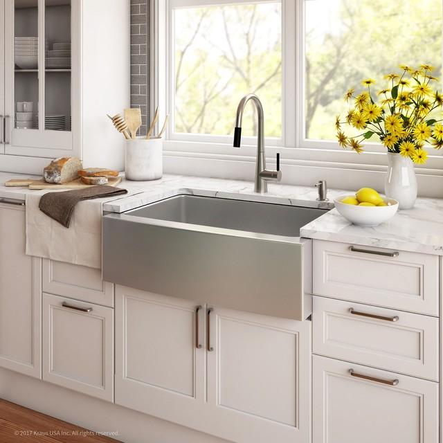 Farmhouse Apron Single Bowl 16 Gauge Stainless Steel Kitchen Sink