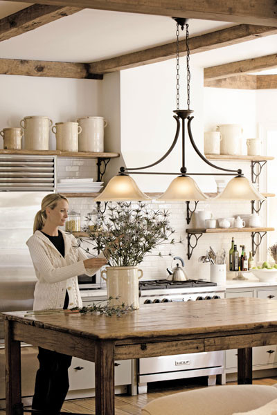 Farmhouse chic traditional kitchen by build com