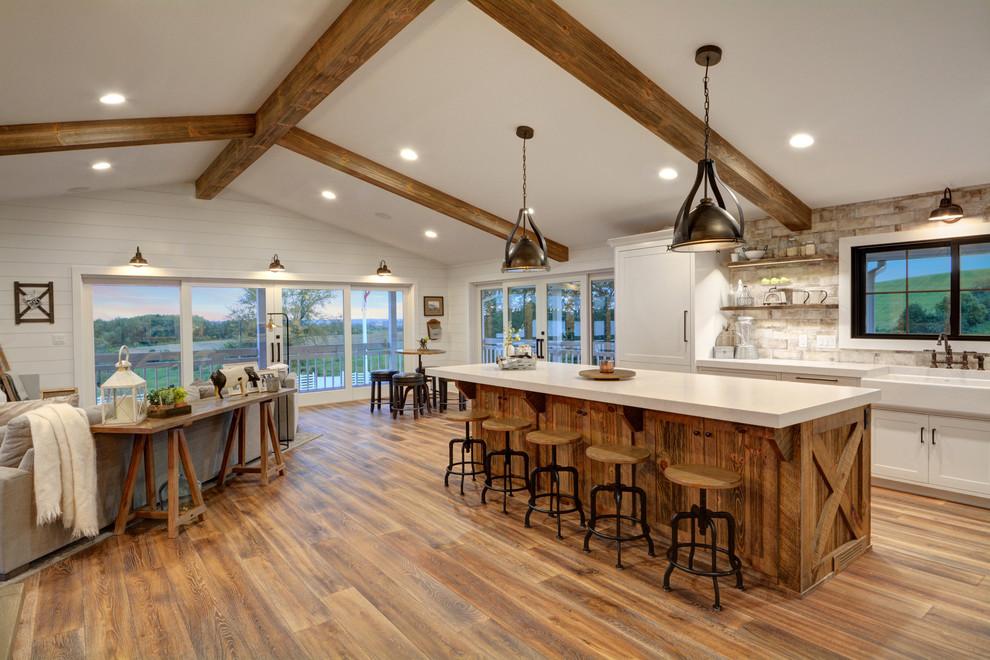 Farmhouse Fixer Upper Farmhouse Kitchen Chicago By Galena Hillside Homes