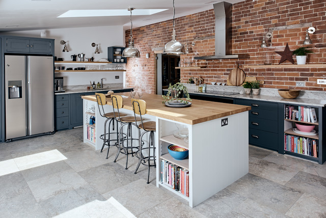 Farmhouse Industrial Style - Industrial - Küche - Berkshire ...