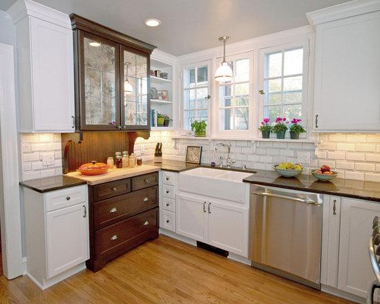 Farmhouse Backsplash Kitchen Design Ideas Remodels Photos With