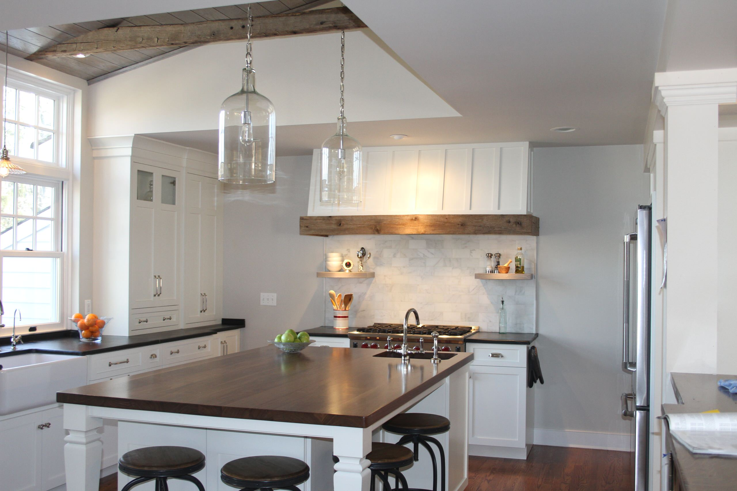 Farmhouse Island With Wood Top and Sink