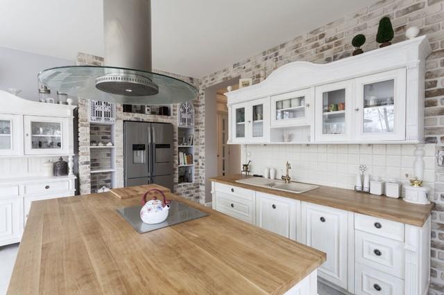 Brick Wall Kitchen Remodeling - Farmhouse - Kitchen - Los ...