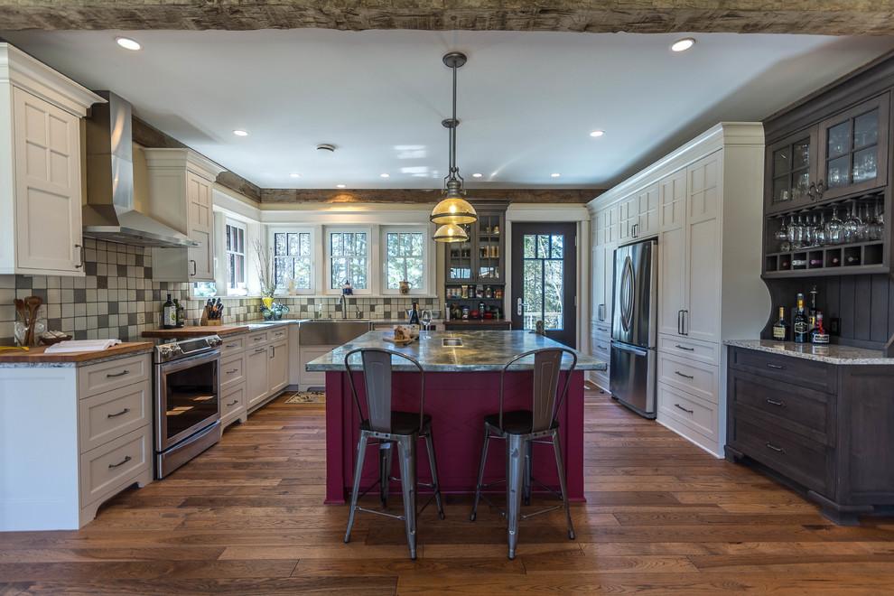 farmhouse kitchen in highland, mi - farmhouse - kitchen - detroit -dream kitchens