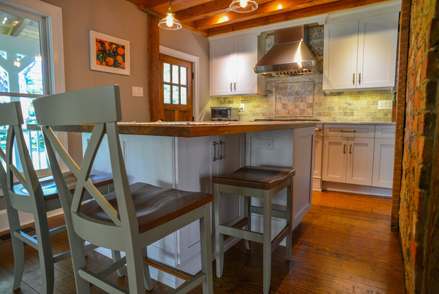 Farmhouse Kitchen Island Hidden Stool Farmhouse Kitchen New York