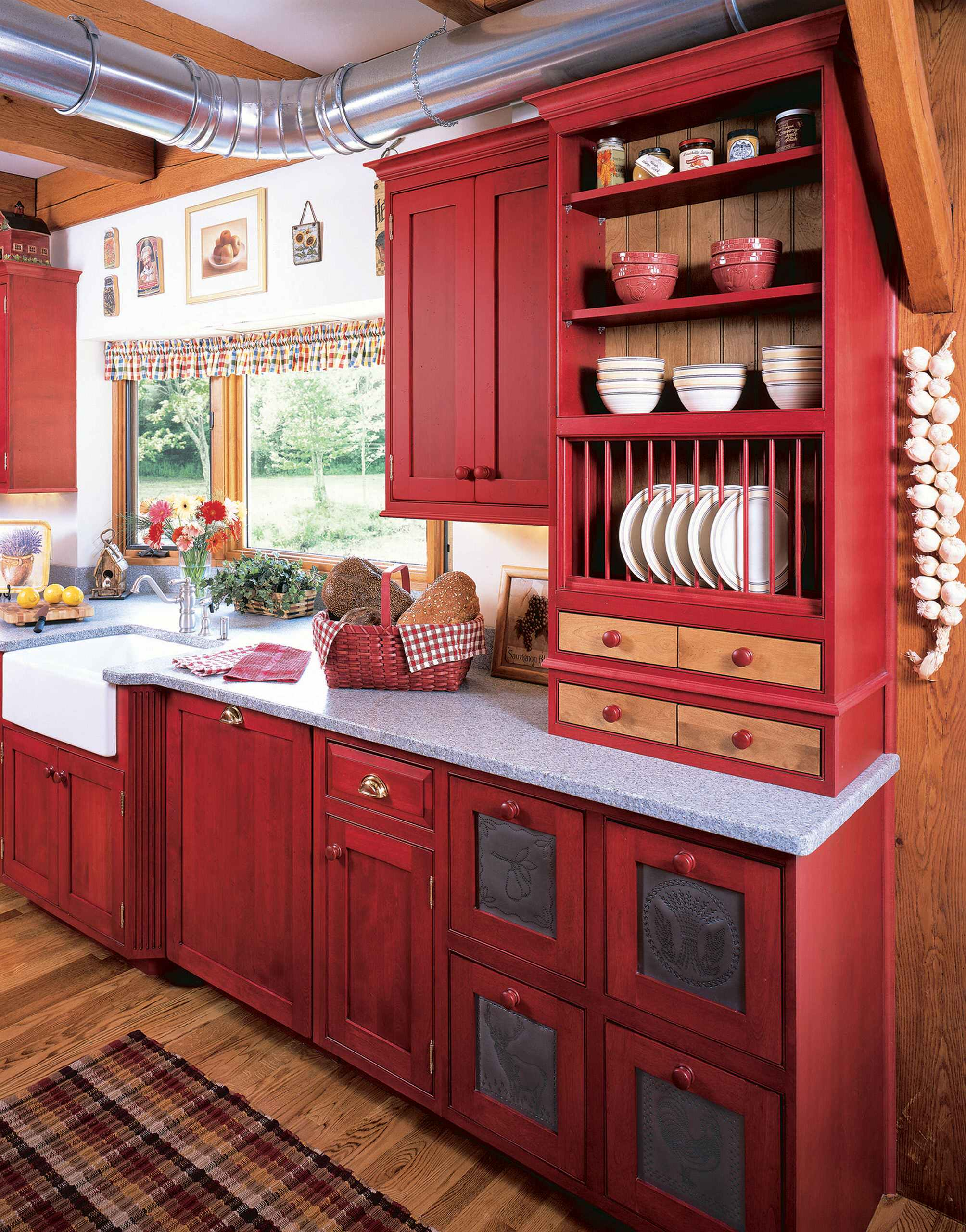 4 Beautiful Kitchen With Red Cabinets Pictures & Ideas - November