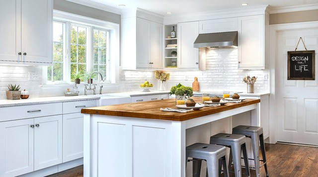 Farmhouse Kitchen Remodel - Transitional - Kitchen - Other ...