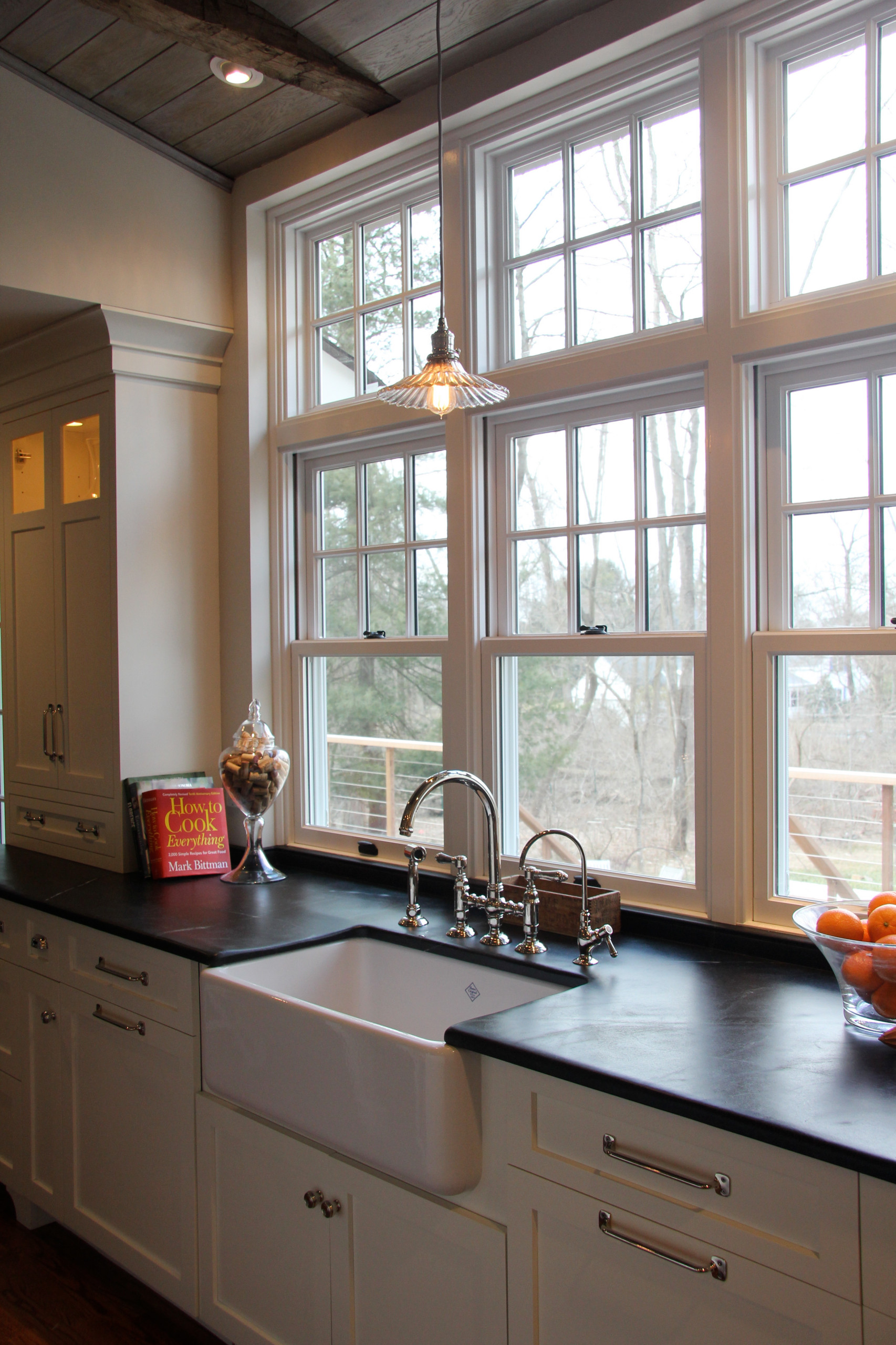 Farmhouse Kitchen With Transom Over Sink