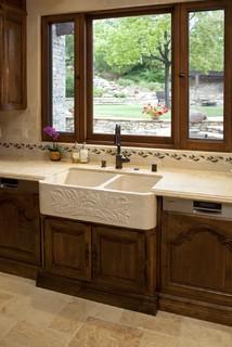 Farmhouse Sink In Tuscany Kitchen
