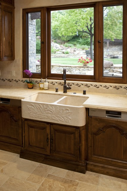 Farmhouse Sink In Tuscany Kitchen