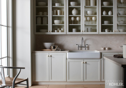 Farmhouse Sink Shaker Style Cabinets Country Kitchen