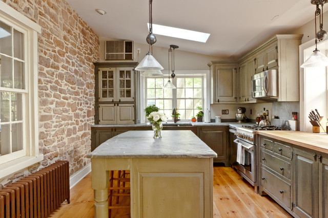 Farmhouse Stone Traditional Kitchen Philadelphia