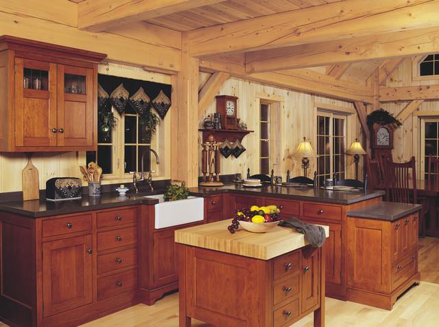 Farmhouse Style Cherry Kitchen Farmhouse Kitchen Cleveland