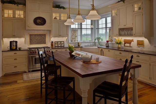 Farmhouse Style Home Country Kitchen