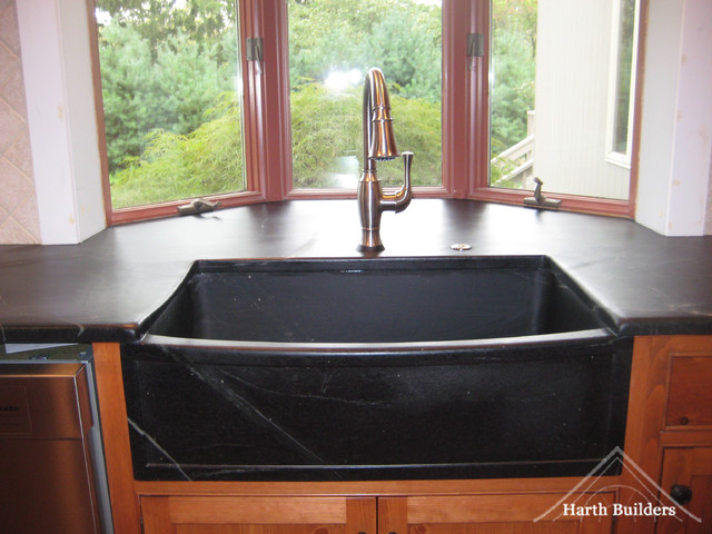 Farmhouse Style Soapstone Sink Farmhouse Kitchen philadelphia by Hart