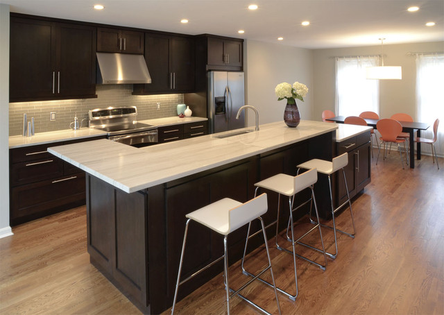 Inspiration For A Transitional Galley Eat In Kitchen Remodel Cincinnati With Stainless Steel Liances