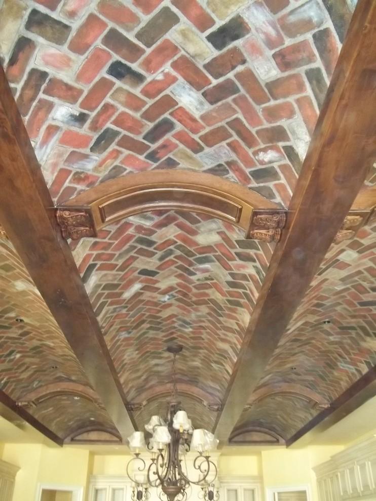 Faux Brick Herringbone Pattern