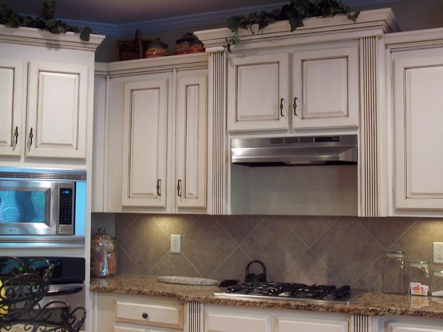 Faux Finished Kitchen Cabinets