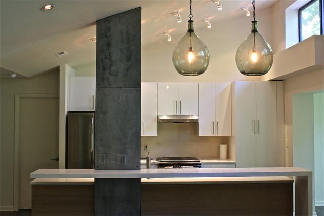 Faux Mill Steel Column Modern Kitchen Baltimore By