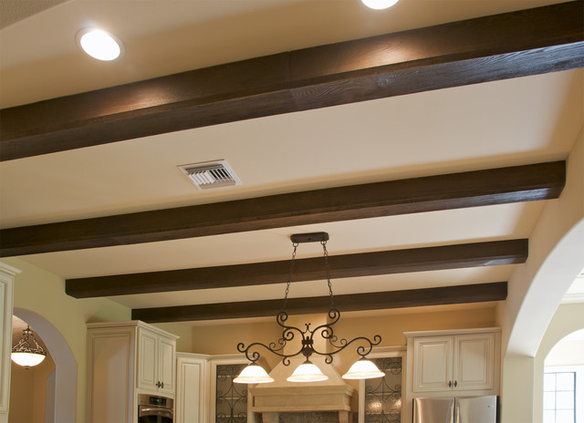 Faux Wood Beam Ceiling Designs American Traditional Kitchen