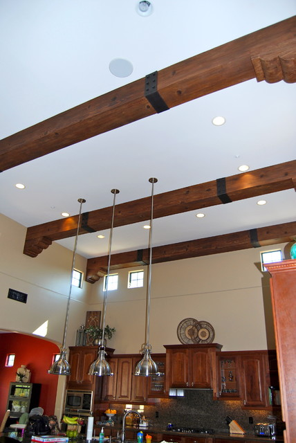 Faux wood beams mediterranean kitchen phoenix by for Decorative beams in kitchen