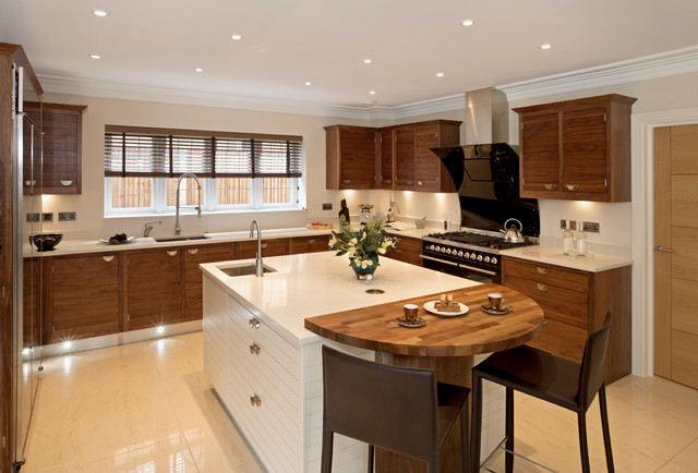 faux wood blinds contemporary kitchen brown white modern cabinets contemporary kitchen - Designer Kitchen Blinds