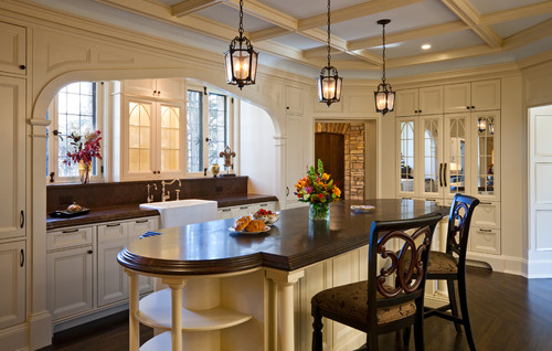 A kitchen with contrast