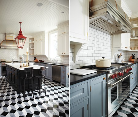 Featured in house home magazine traditional kitchen for Bellini kitchen cabinets