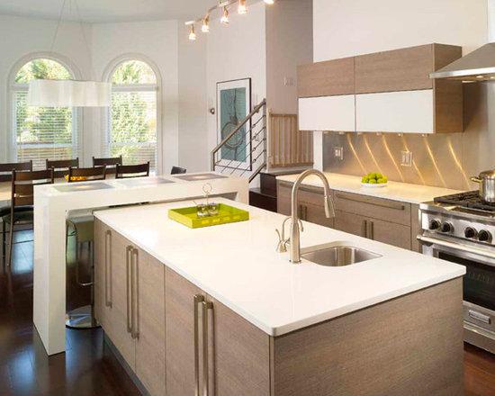 Modern T Shape Kitchen Island Home Design Photos Decor Ideas