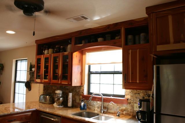 Feay Cedar Kitchen Project. rustic-kitchen