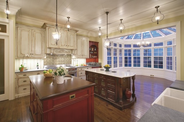 federal style home traditional kitchen orange county