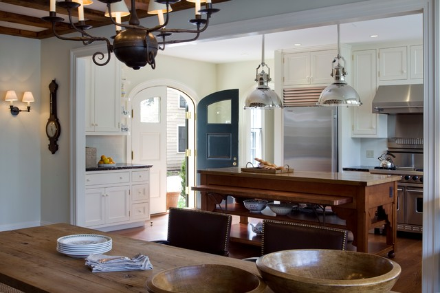 Federal style renovation traditional kitchen boston for Federal style kitchen