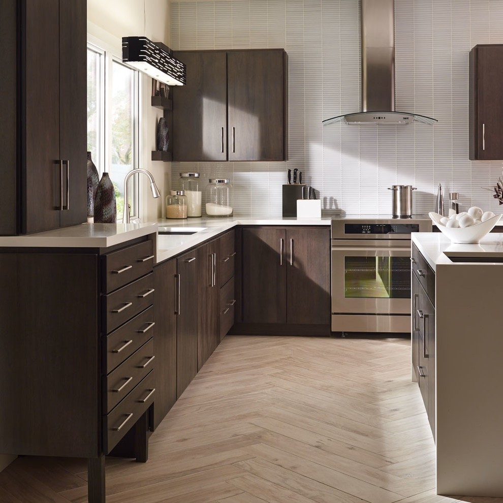 Fieldstone Cabinetry Contemporary Lyptus Kitchen in Slate ...