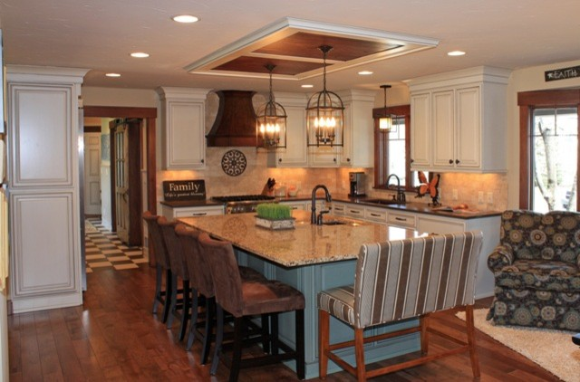 Fieldstone Cabinetry Remodel eclectic-kitchen