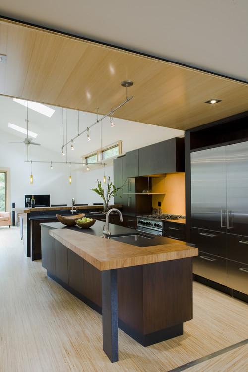 fifties split modern kitchen