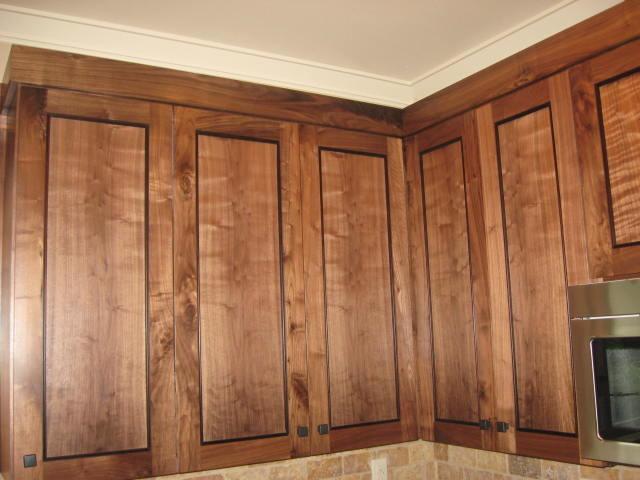 Figured Walnut cabinets Portland Oregon - Traditional ...