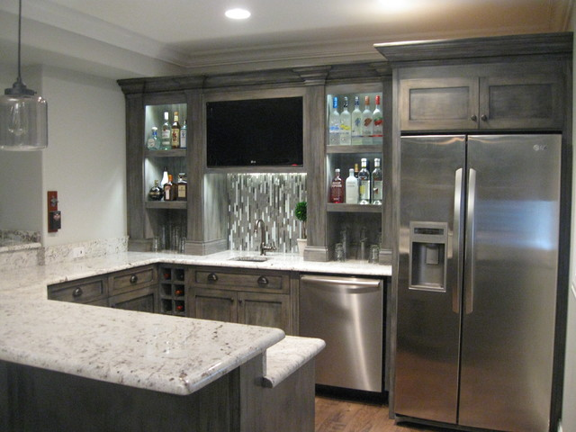 Finished Basement - Contemporary - Kitchen - chicago