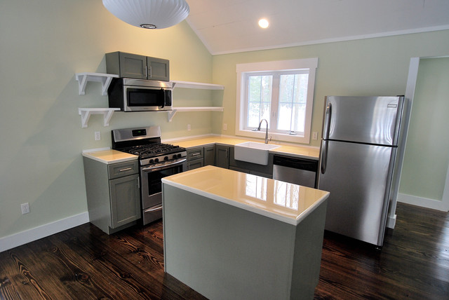 Finished Houses Interiors Contemporary Kitchen New York By Charles Petersheim Builder
