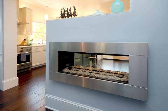 Fireplace See Through