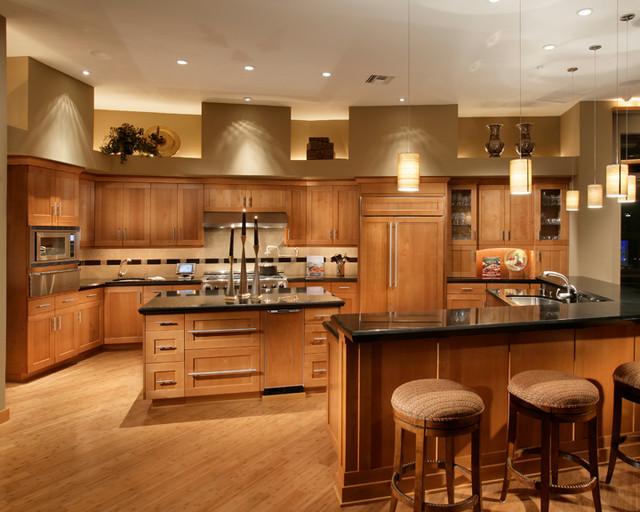 FireRock Custom Home Warm Modern - Modern - Kitchen - Phoenix - by Sandella Custom Interiors, LLC