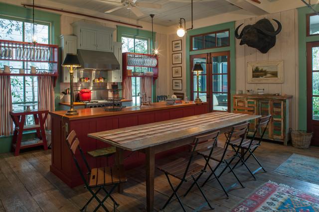 Fish Camp Beach Cottage shabby-chic-style-kitchen