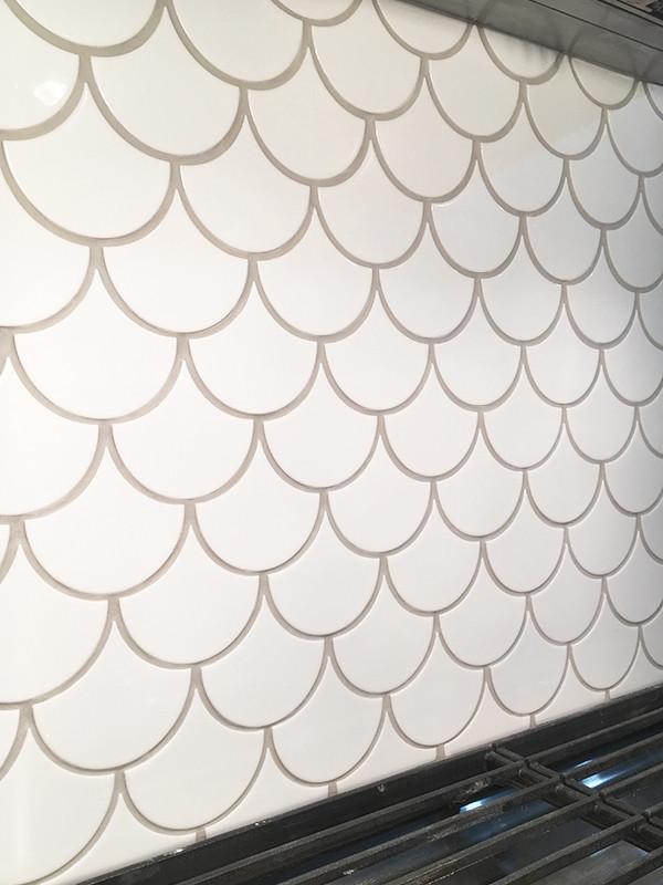 Fish Scale Tile Kitchen Backsplash Kitchen Ottawa By Coco Tile