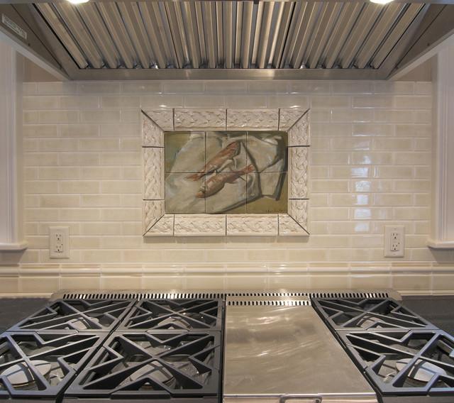 65 Kitchen Backsplash Tiles Ideas Tile Types And Designs: Fish Tile Mural In Traditional Kitchen Backsplash