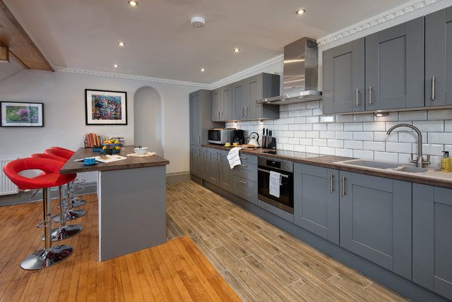 Five Turrets, Selkirk, Scotland transitional-kitchen
