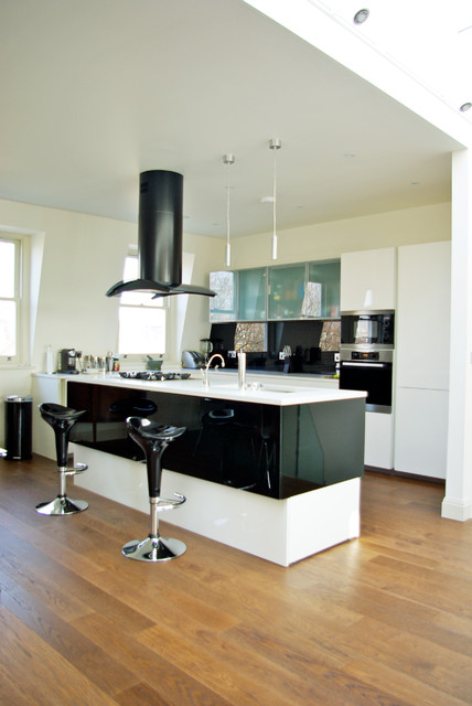 Flat In Olympia Contemporary Kitchen London By Godsmark Architecture Ltd